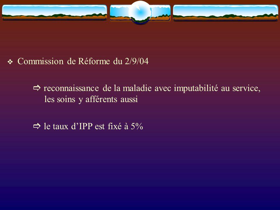 Commission de Réforme du 2/9/04
