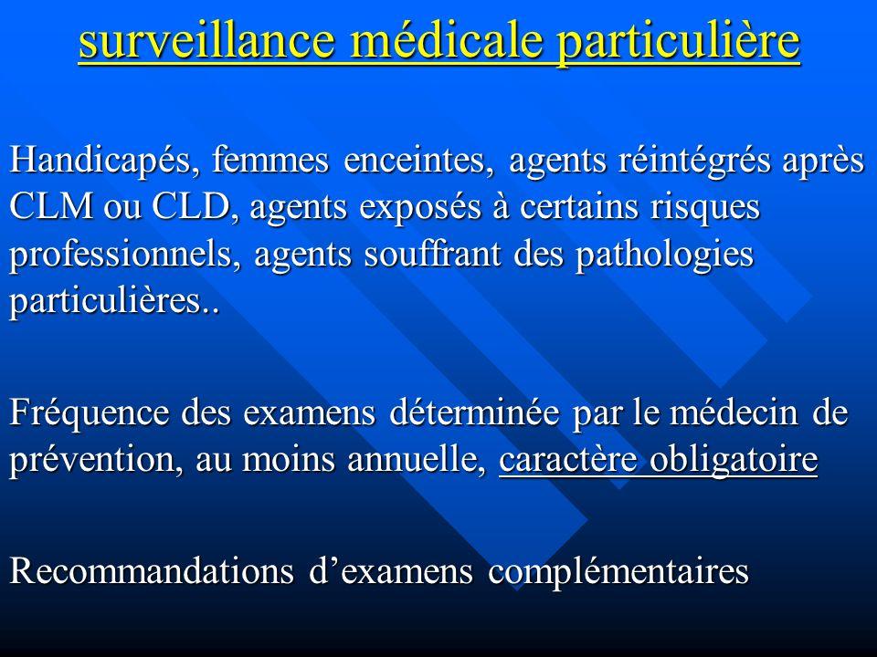 surveillance médicale particulière