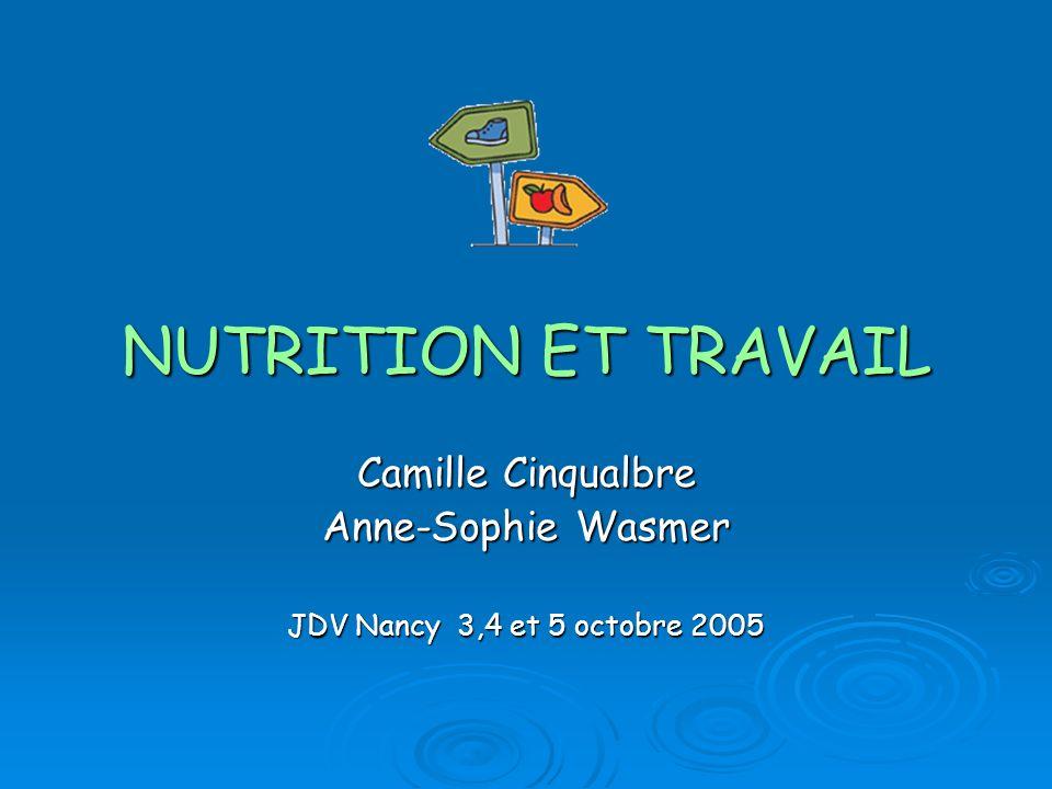 Camille Cinqualbre Anne-Sophie Wasmer JDV Nancy 3,4 et 5 octobre 2005