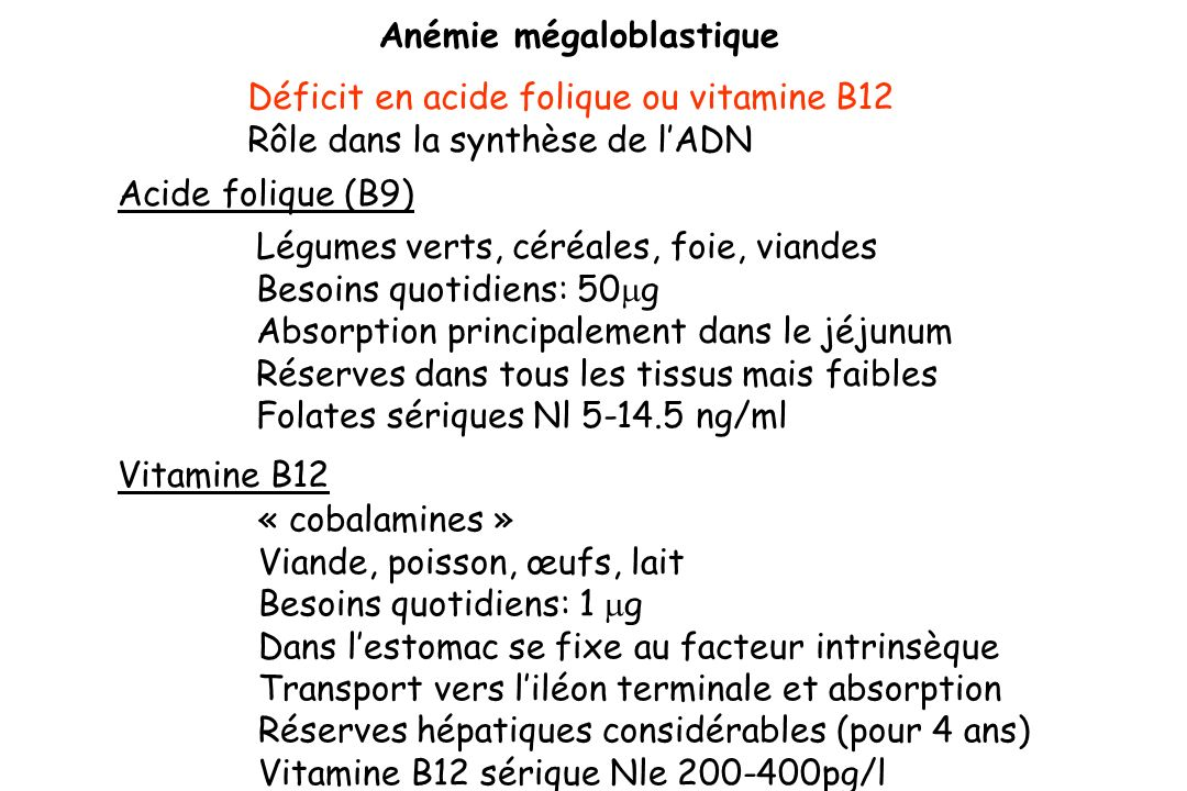Anémie mégaloblastique