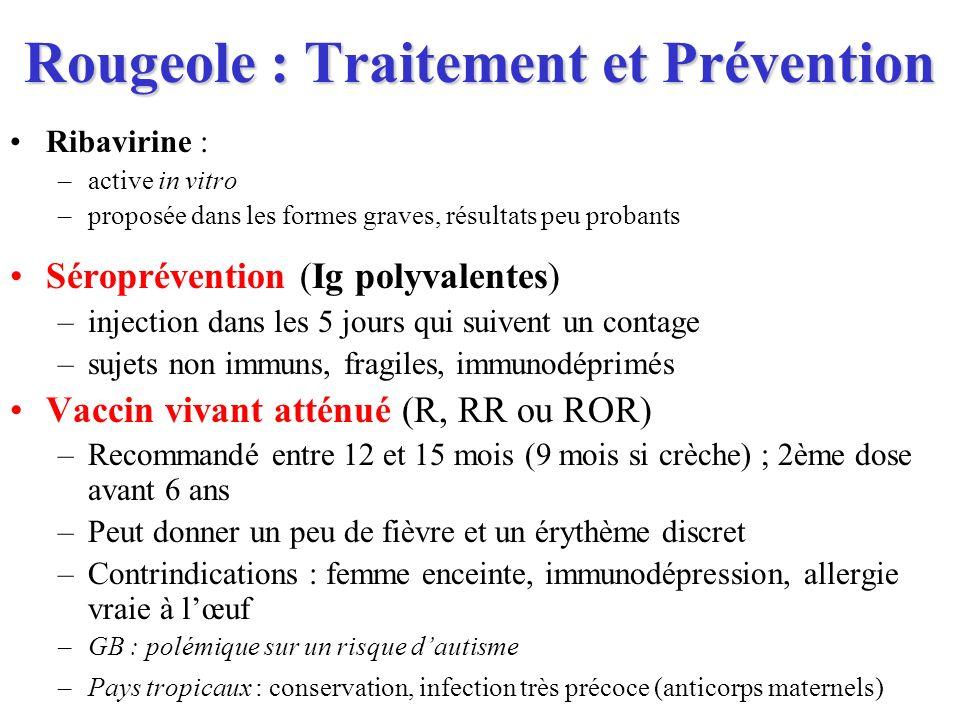 Rougeole : Traitement et Prévention