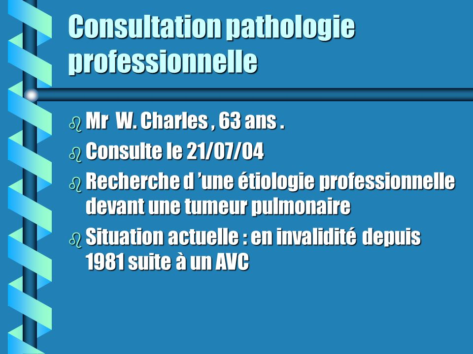 Consultation pathologie professionnelle