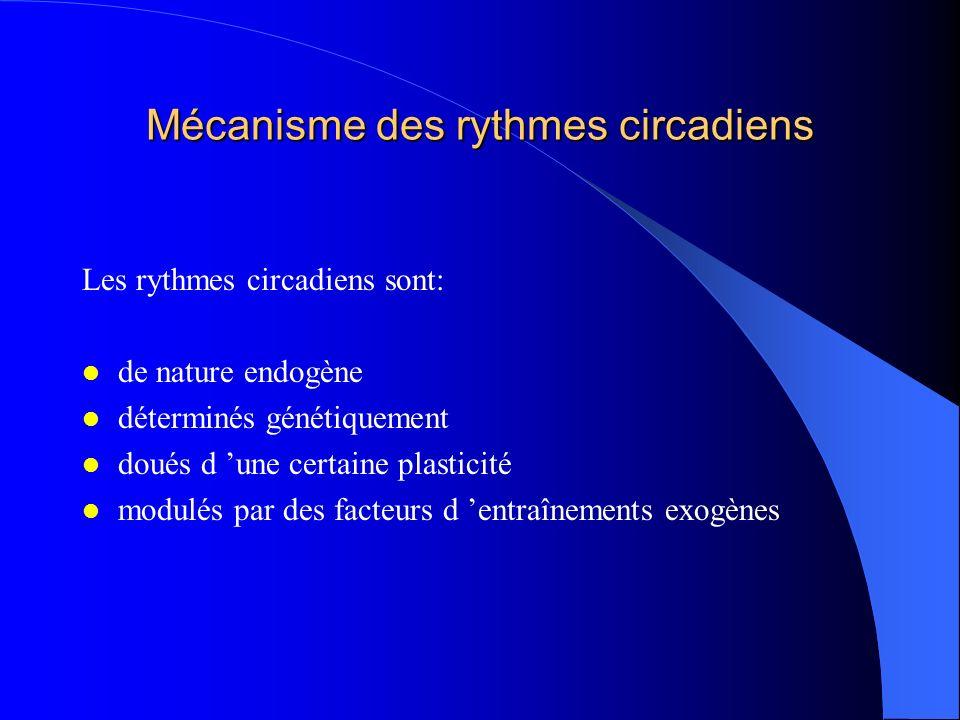 Mécanisme des rythmes circadiens