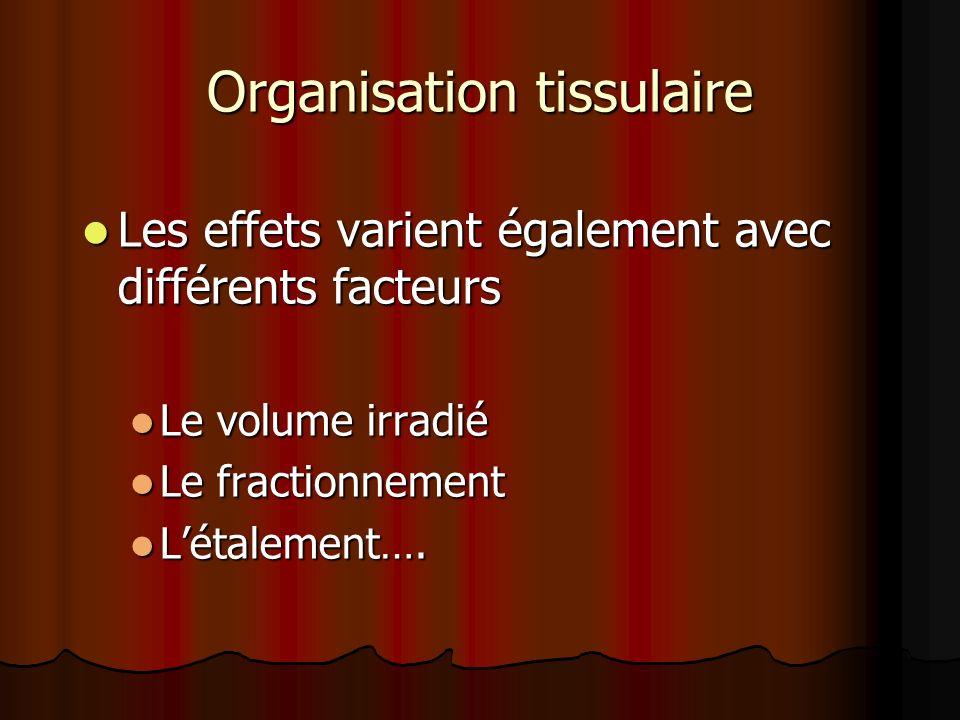 Organisation tissulaire