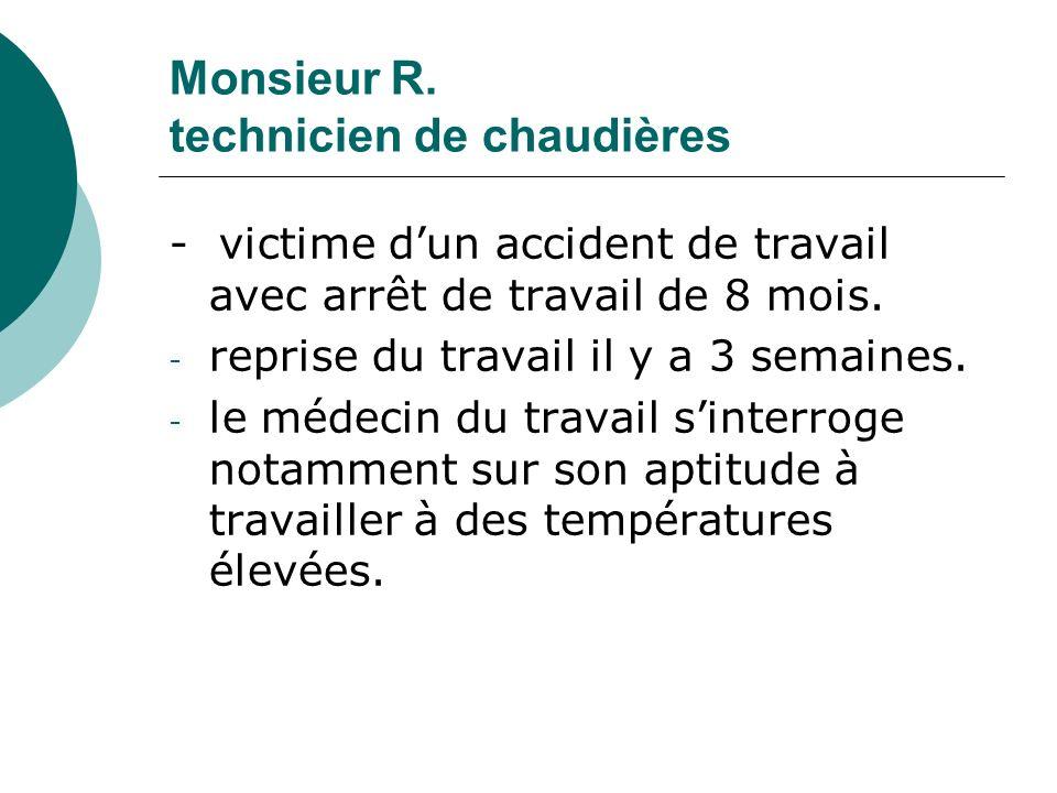 Monsieur R. technicien de chaudières