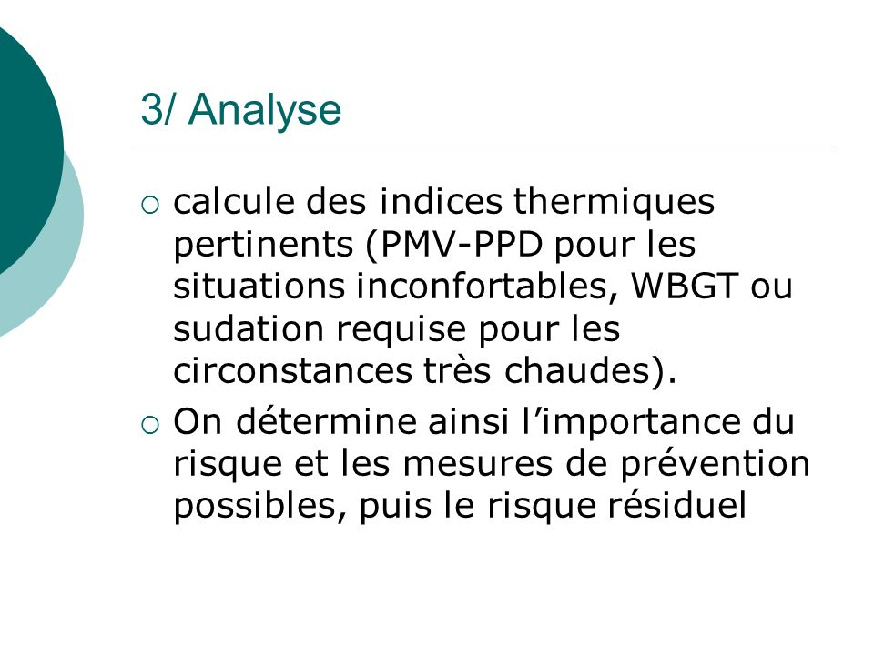 3/ Analyse