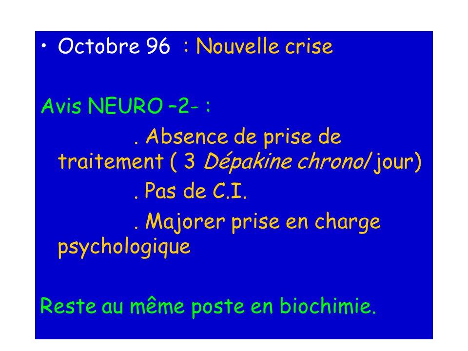 Octobre 96 : Nouvelle crise
