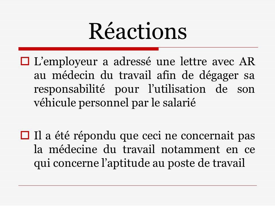 Réactions