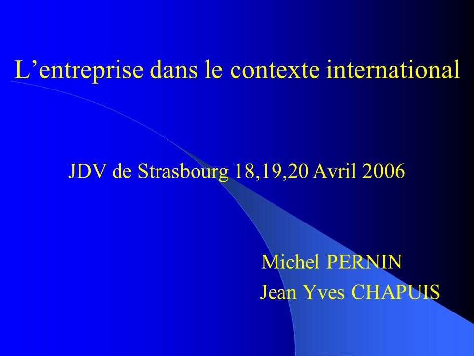 L'entreprise dans le contexte international