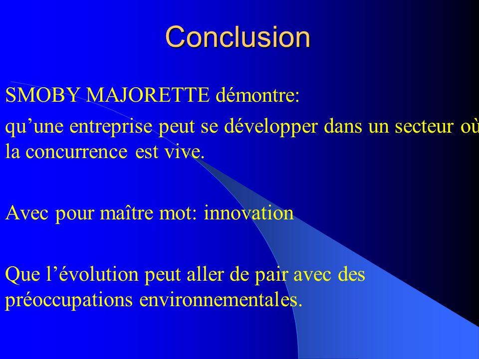 Conclusion SMOBY MAJORETTE démontre: