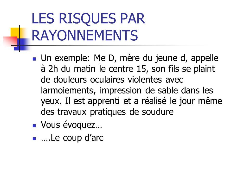 LES RISQUES PAR RAYONNEMENTS