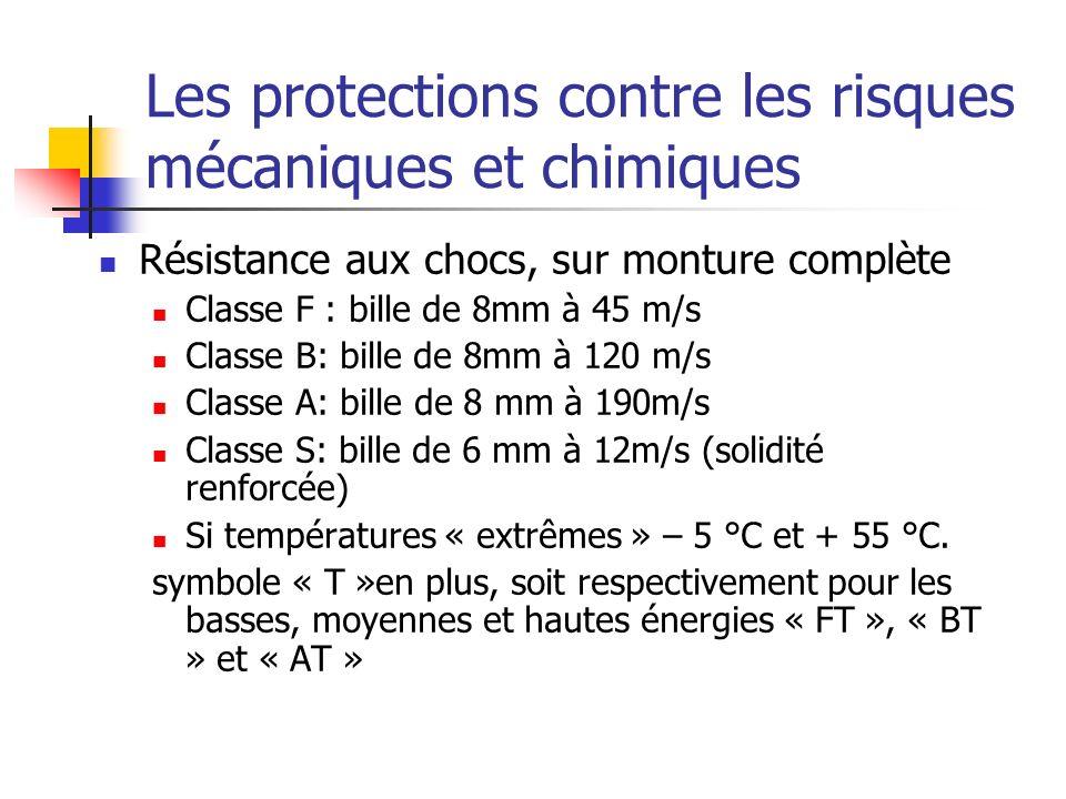 Les protections contre les risques mécaniques et chimiques