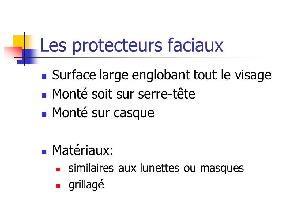 Les protecteurs faciaux