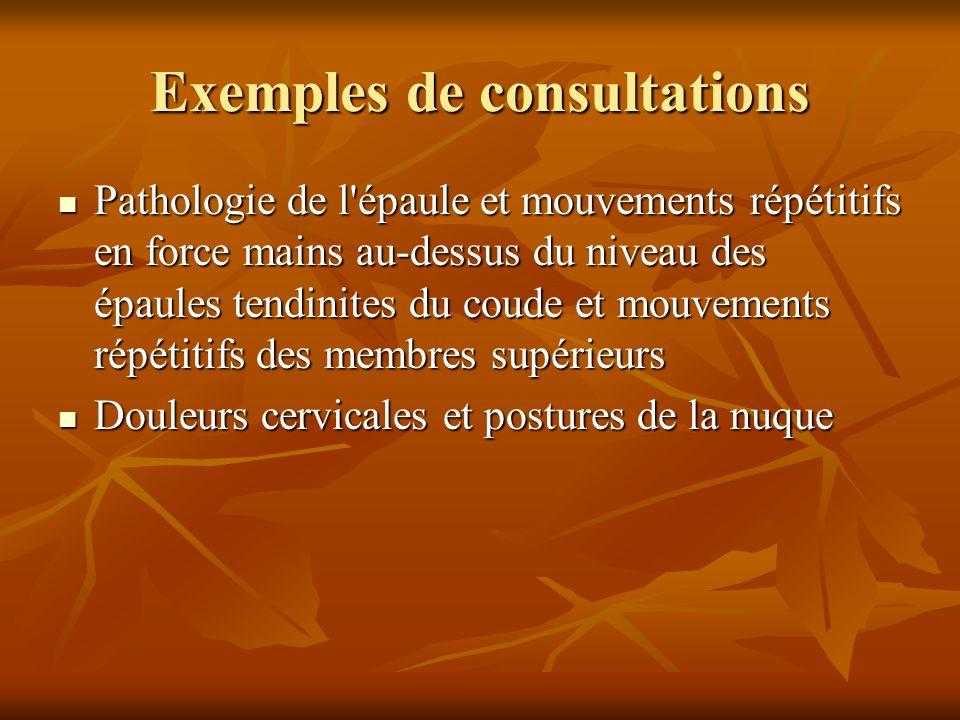 Exemples de consultations