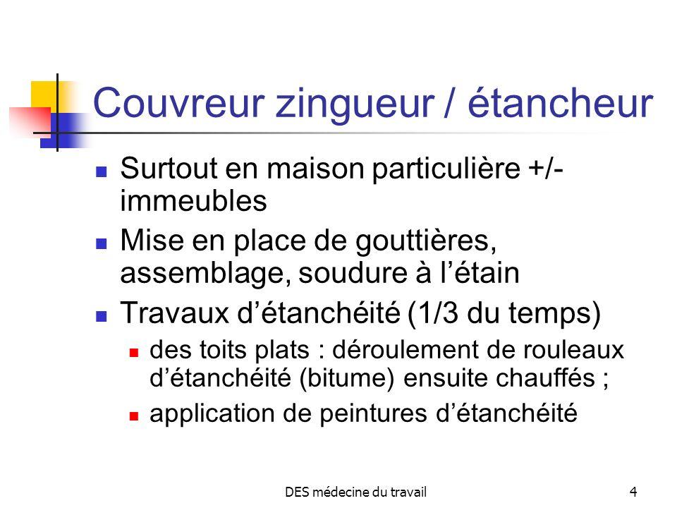 Couvreur zingueur / étancheur