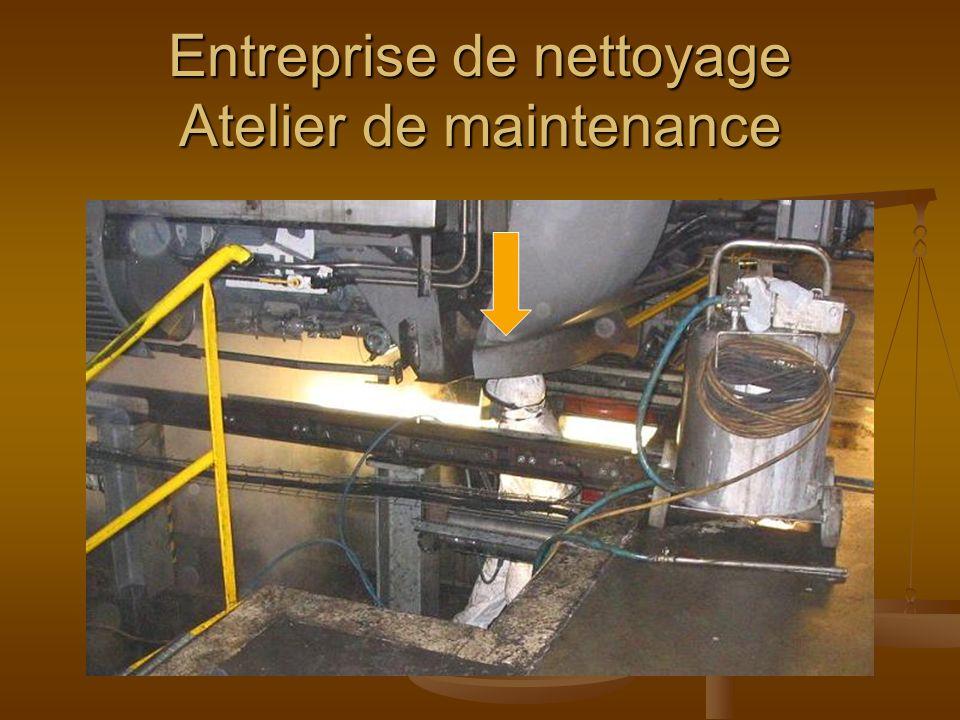 Entreprise de nettoyage Atelier de maintenance