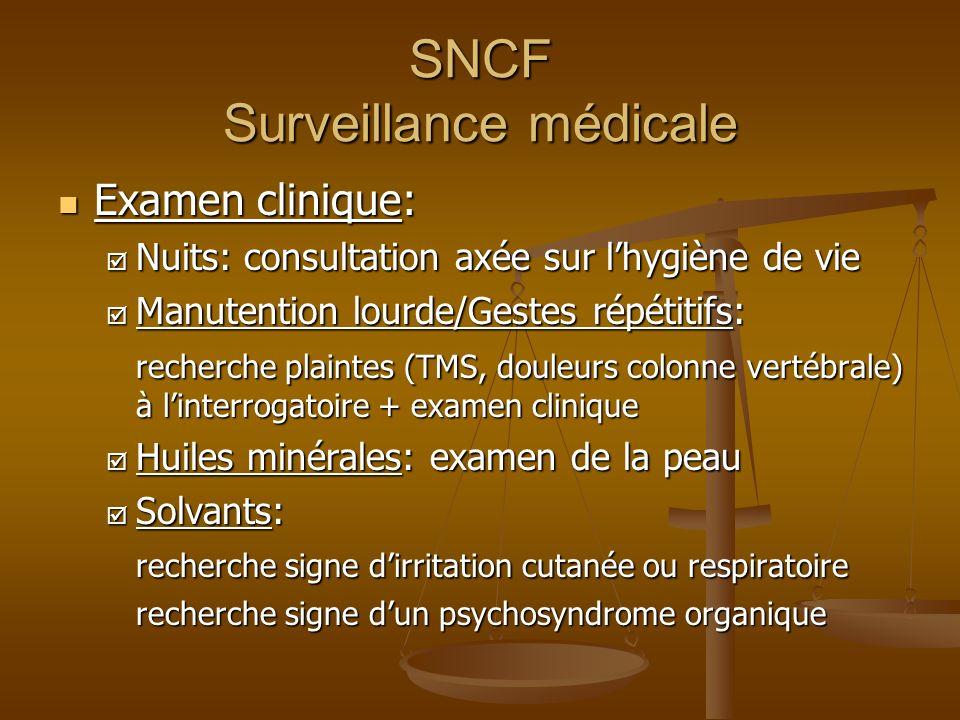 SNCF Surveillance médicale