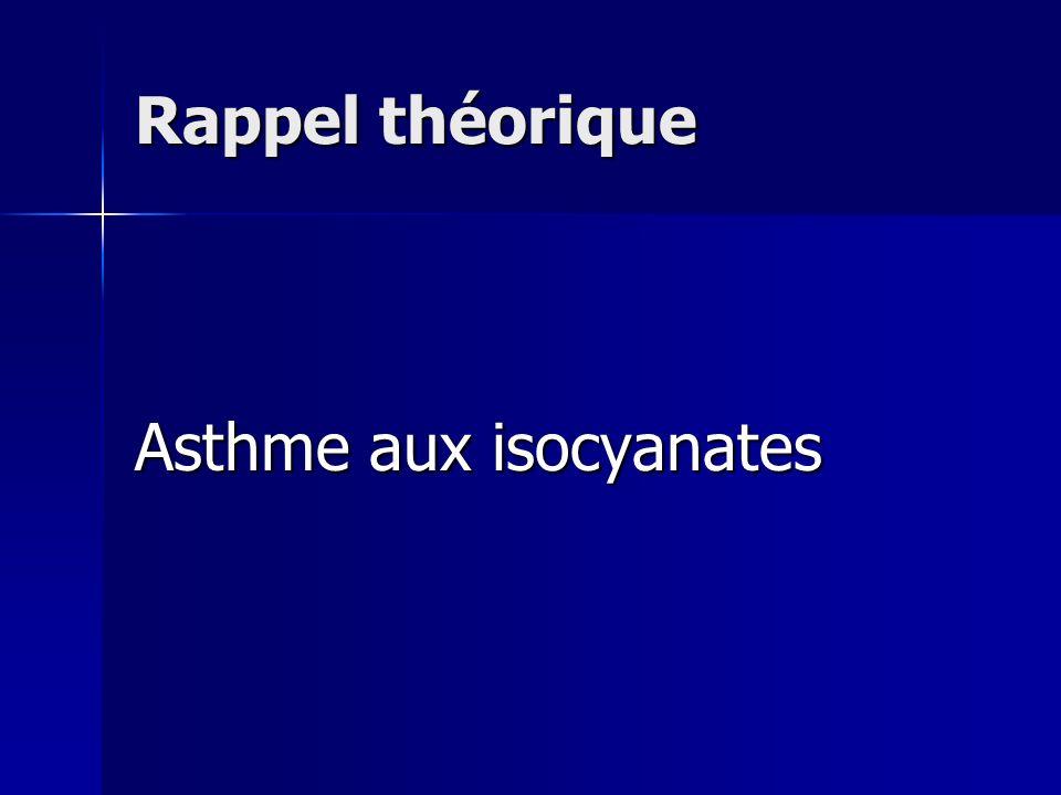 Rappel théorique Asthme aux isocyanates