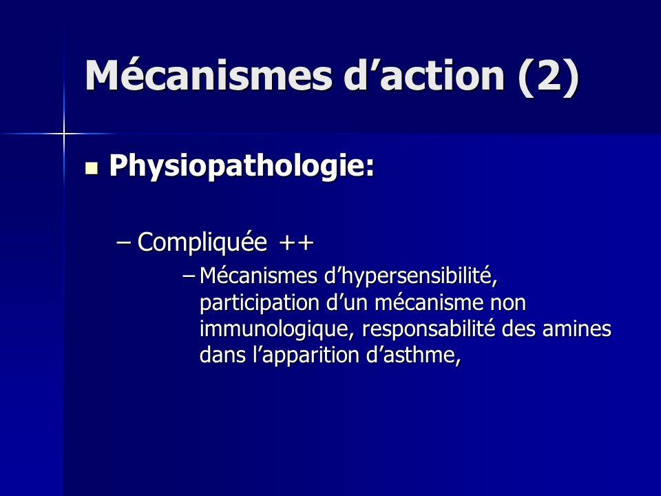 Mécanismes d'action (2)