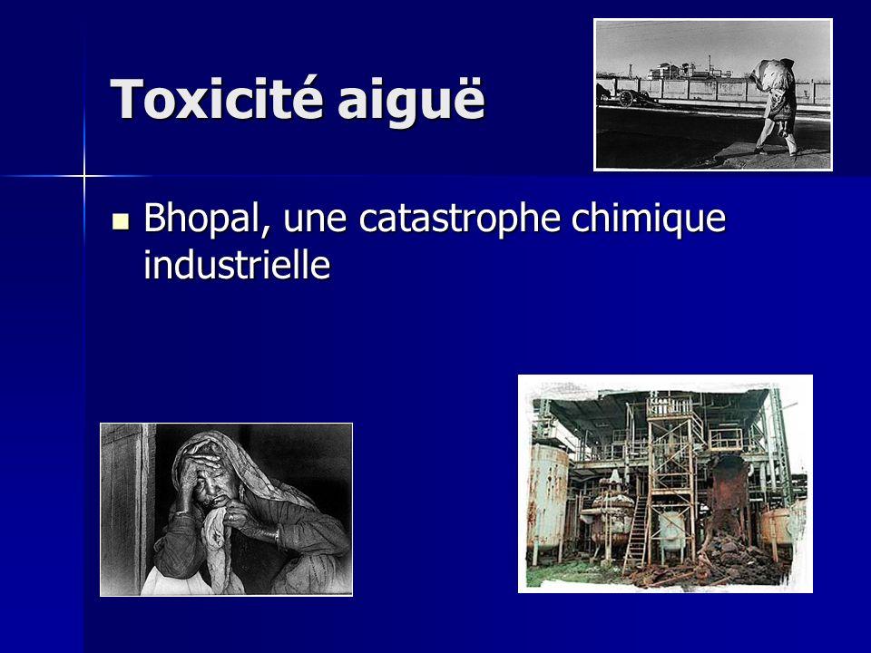 Toxicité aiguë Bhopal, une catastrophe chimique industrielle