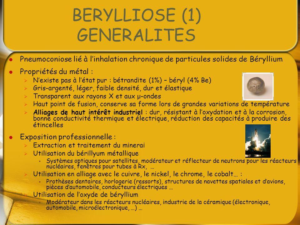 BERYLLIOSE (1) GENERALITES
