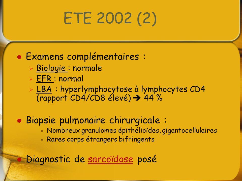 ETE 2002 (2) Examens complémentaires :