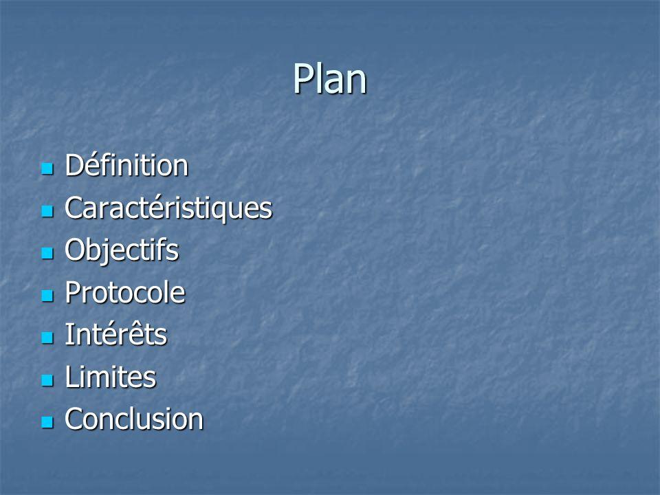 Plan Définition Caractéristiques Objectifs Protocole Intérêts Limites