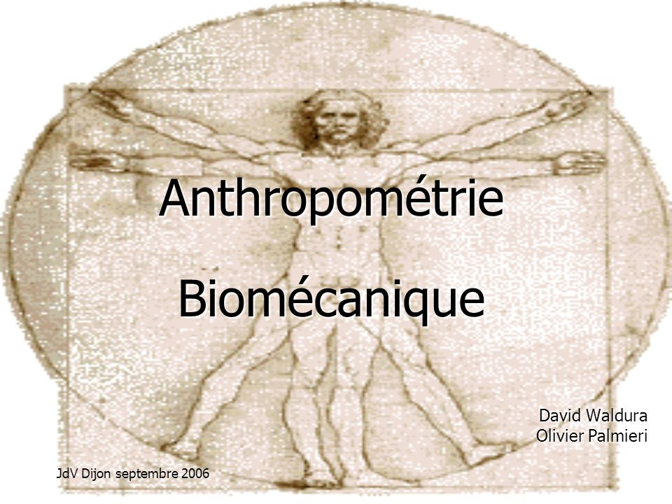 Anthropométrie Biomécanique