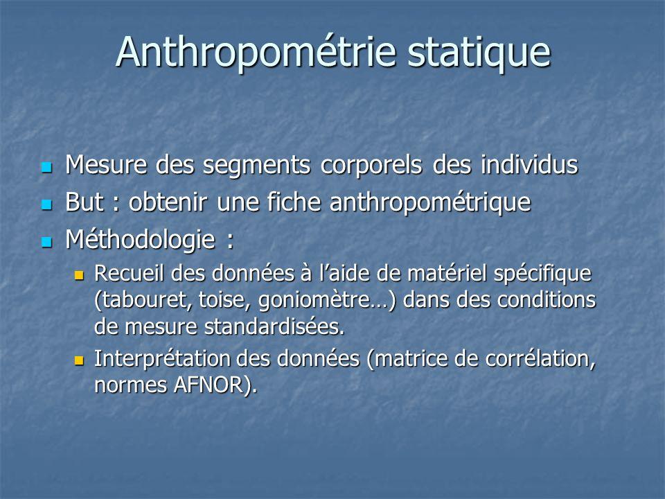 Anthropométrie statique