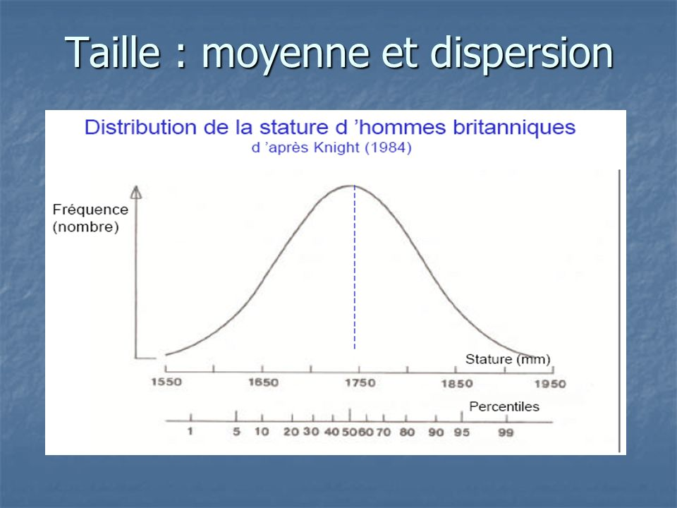 Taille : moyenne et dispersion