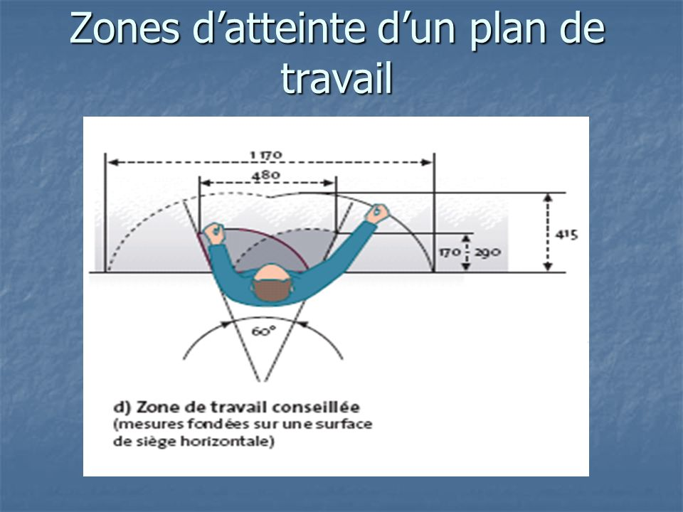 Anthropom trie biom canique ppt video online t l charger - Profondeur plan de travail ...