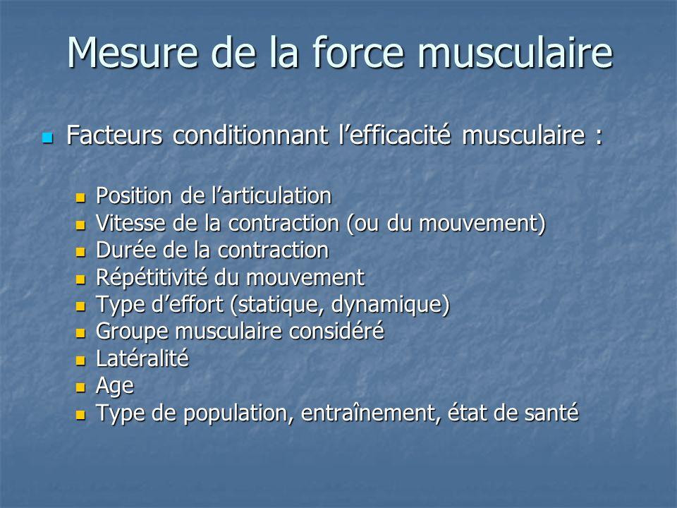 Mesure de la force musculaire