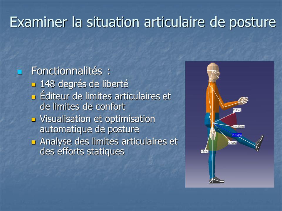 Examiner la situation articulaire de posture