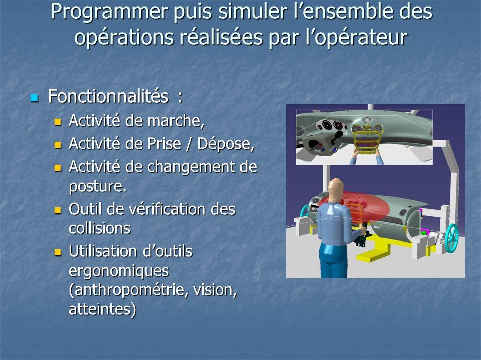 Programmer puis simuler l'ensemble des opérations réalisées par l'opérateur