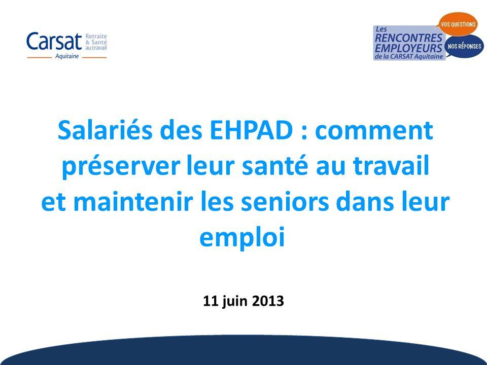 Salariés des EHPAD : comment préserver leur santé au travail et maintenir les seniors dans leur emploi