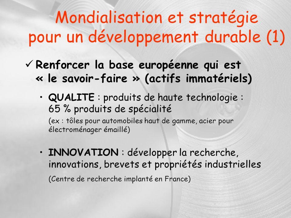 Mondialisation et stratégie pour un développement durable (1)