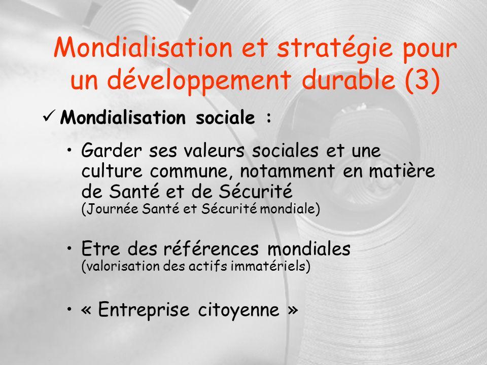 Mondialisation et stratégie pour un développement durable (3)