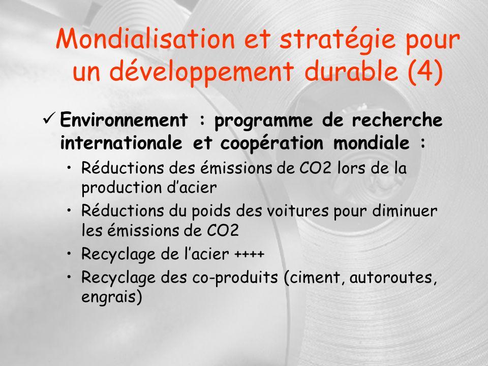 Mondialisation et stratégie pour un développement durable (4)