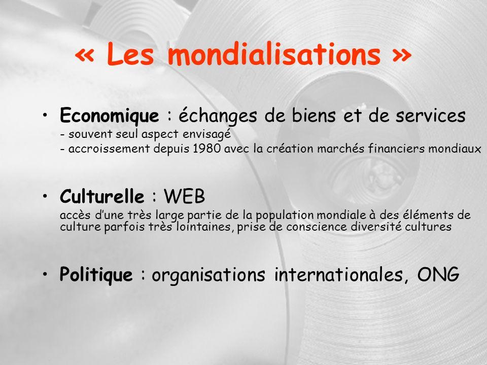 « Les mondialisations »