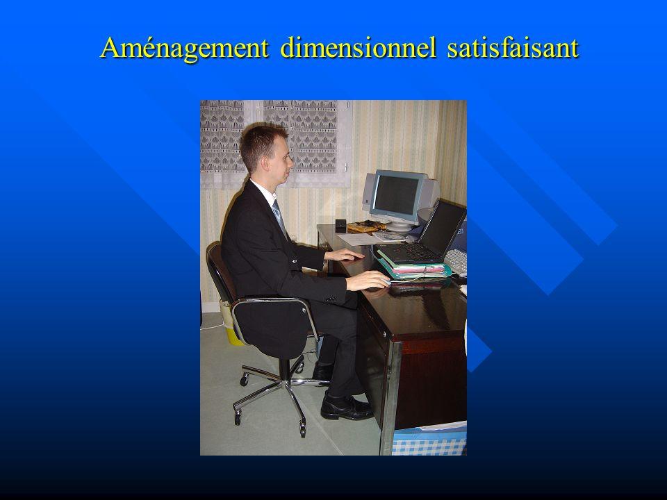 Aménagement dimensionnel satisfaisant