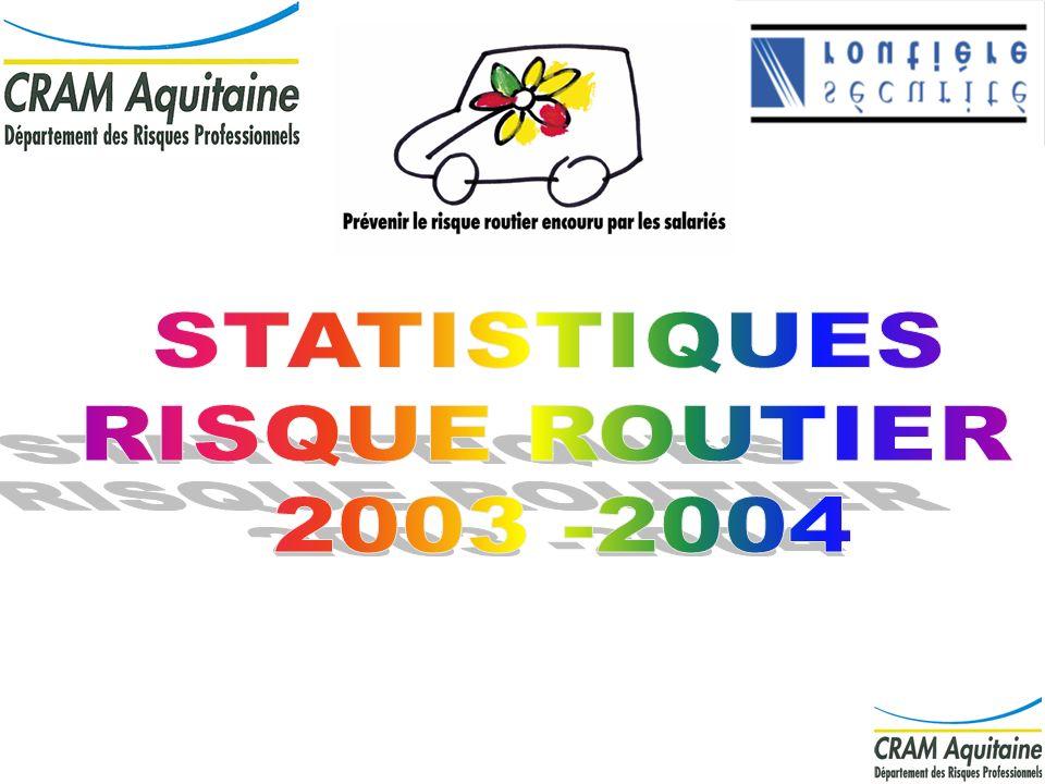 STATISTIQUES RISQUE ROUTIER 2003 -2004