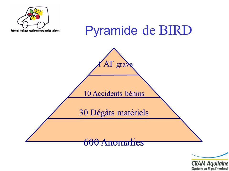 Pyramide de BIRD 600 Anomalies 30 Dégâts matériels 1 AT grave