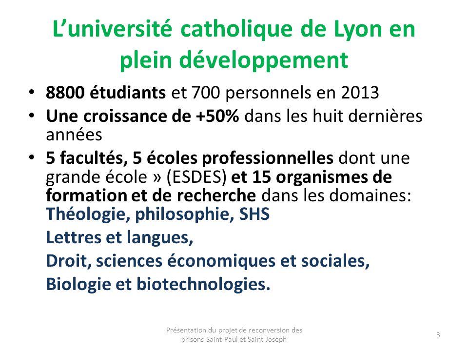 L'université catholique de Lyon en plein développement