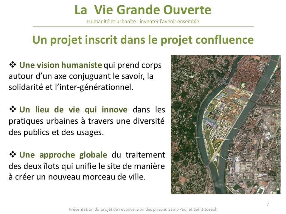 Un projet inscrit dans le projet confluence