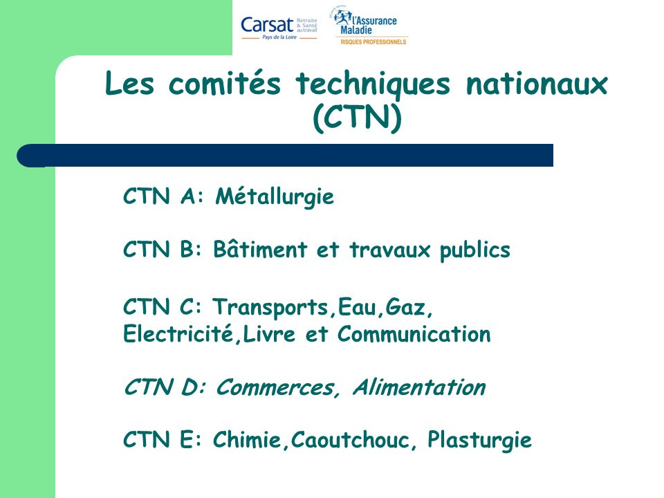 Les comités techniques nationaux (CTN)