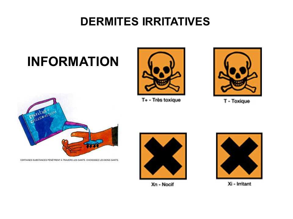 DERMITES IRRITATIVES INFORMATION