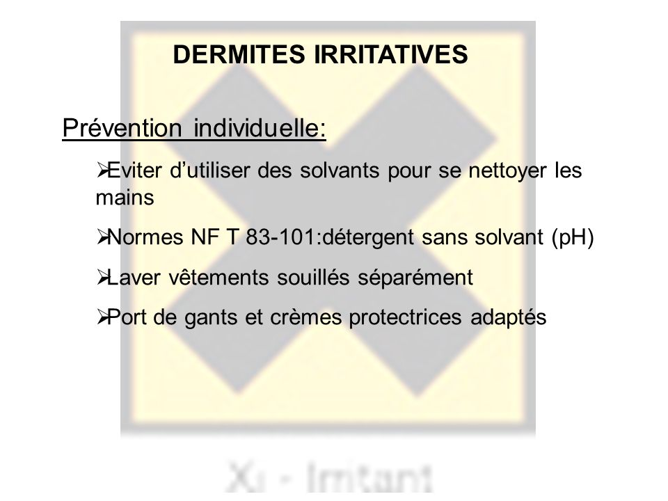 Prévention individuelle: