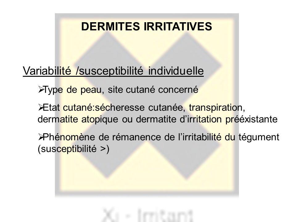 Variabilité /susceptibilité individuelle