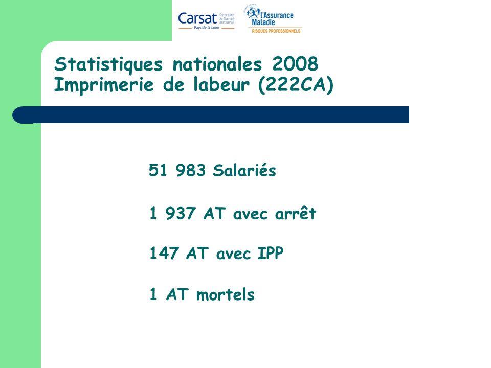 Statistiques nationales 2008 Imprimerie de labeur (222CA)