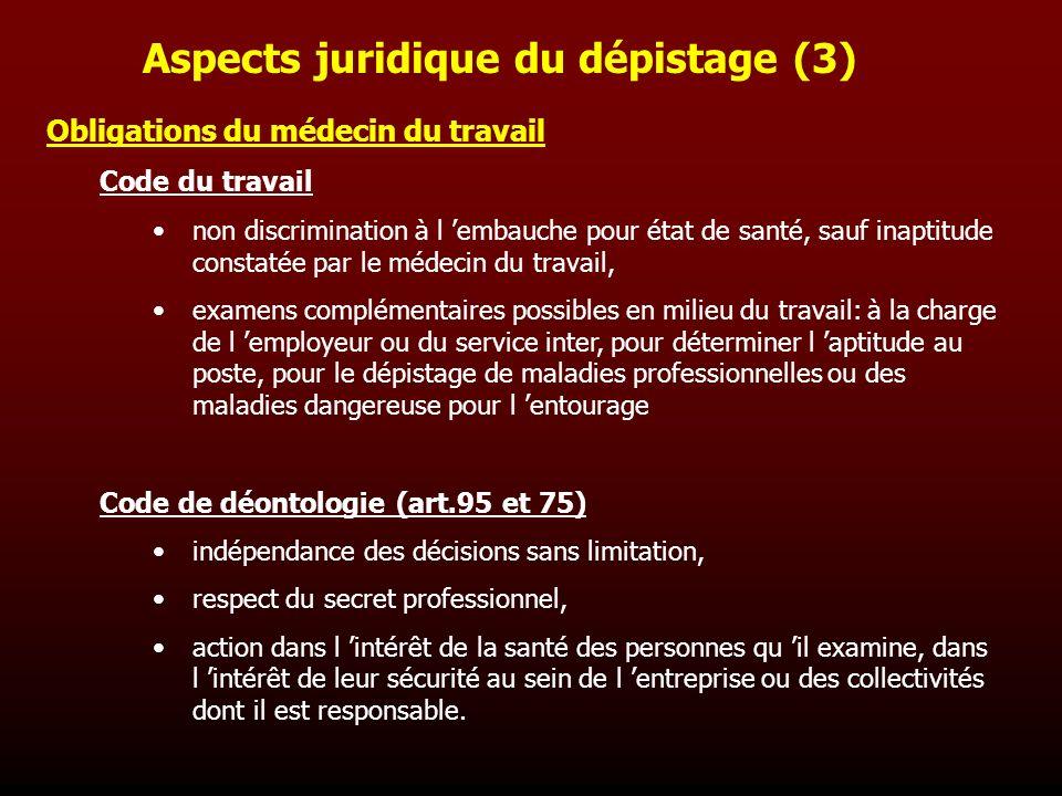 Aspects juridique du dépistage (3)